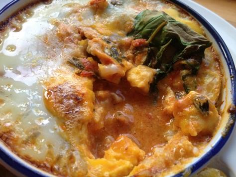 Chorizo, Egg, Tomato Sauce... I'm in heaven!