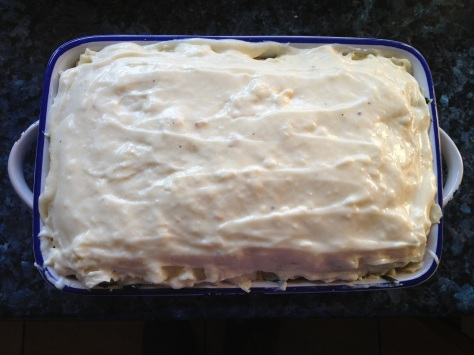 Top Final Layer With Cheese Sauce and You're Done