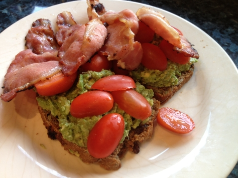 Delicious Bacon Avocado Toast