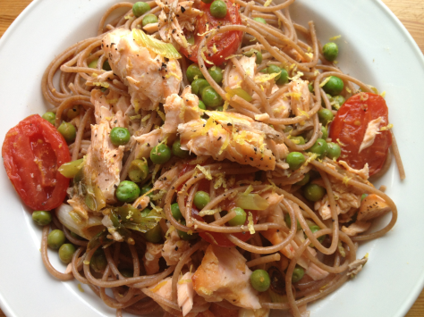 Delicious Zesty Salmon Pasta