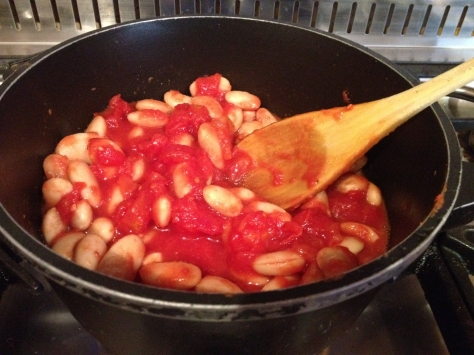 Heat Beans and Tomato Sauce
