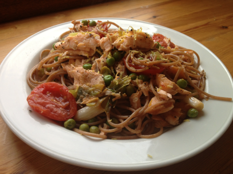 Delicious and Healthy Salmon Pasta