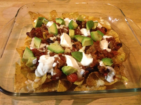 Serve with Dollops of Sour Cream and Avocado