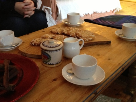 We Were Greeted With Tea and Homemade Biscuits