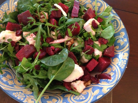 Beetroot and Camembert Salad