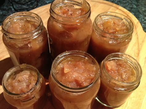 My Jars of Apple Relish