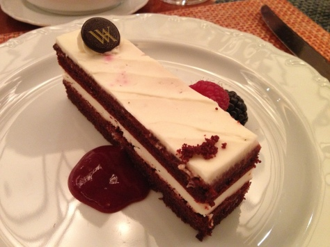 Red Velvet Cake At The Waldorf, New York