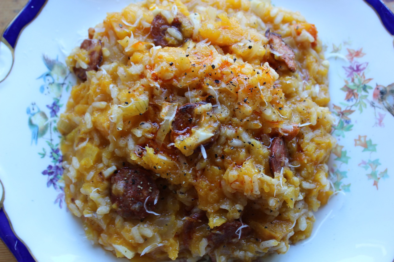 butternut squash risotto with bacon amp sage recipe yummly