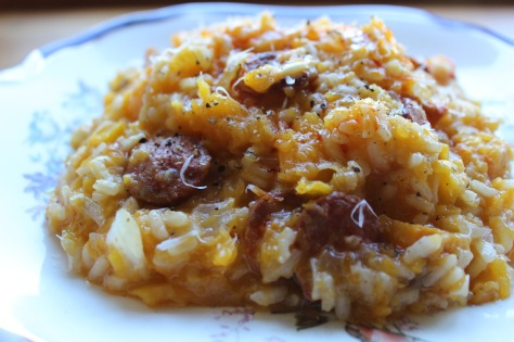 Decadent Squash and Chorizo Risotto