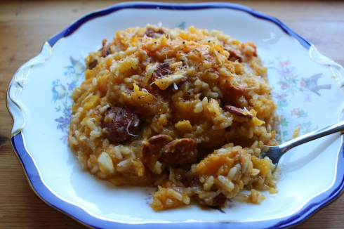 Delicious Squash and Chorizo Risotto