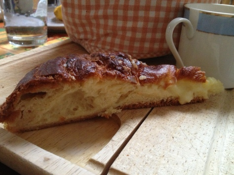 My Morning Reward of Custard Brioche for Breakfast