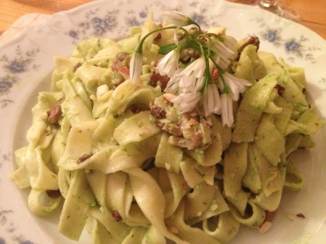 My Wild Garlic Pesto Pasta