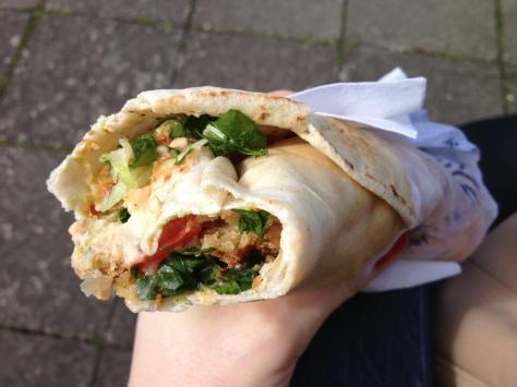 Delicious Falafel Wrap