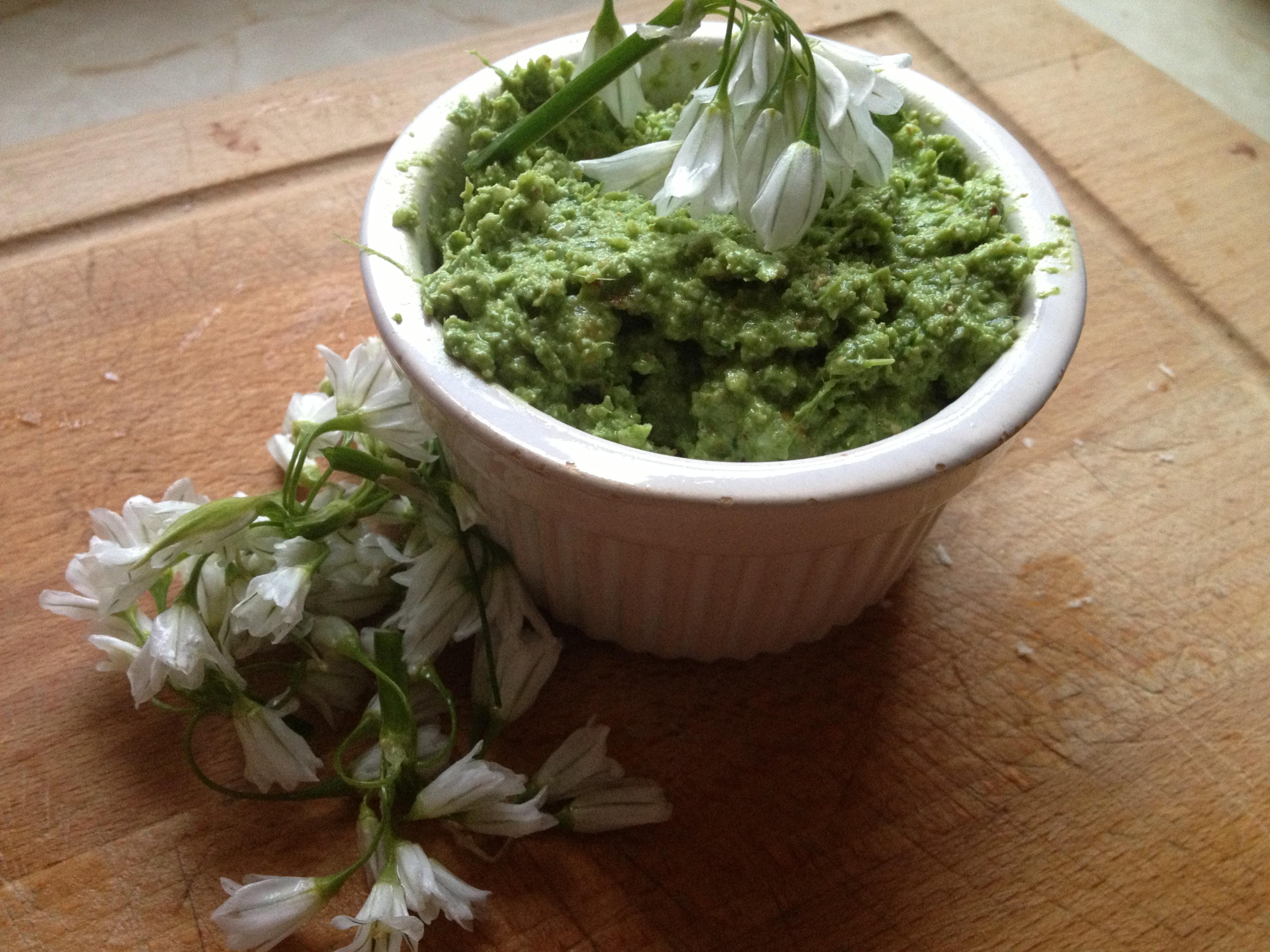 Wild Onion Pesto Pasta | the rebel kitchen