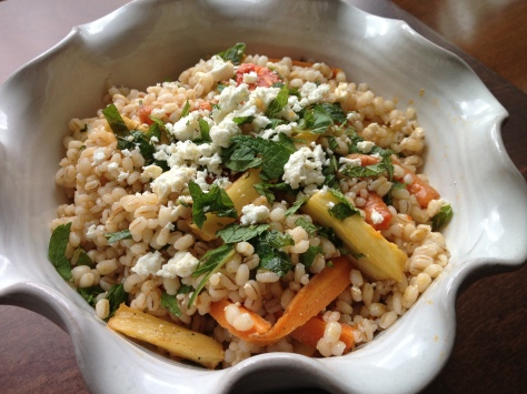 Honey and Harissa Grain Salad
