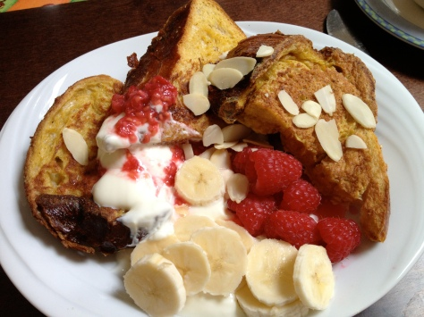 Ginger and Raspberry French Toast