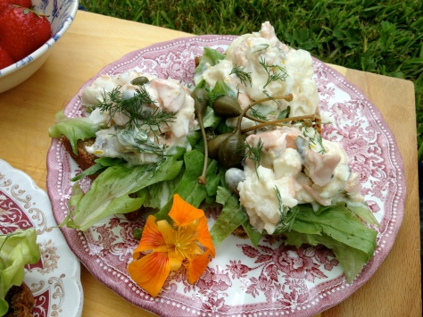 Creamy Lemon and Caper Mixed Fish Salad