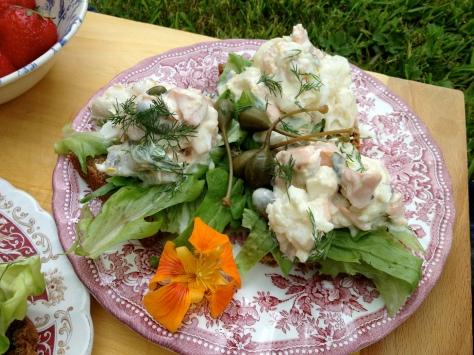 Creamy Lemon and Caper Mixed Fish Salad
