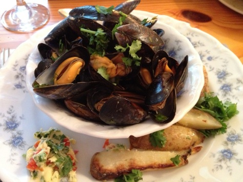 Lime and Coriander Chili Mussles