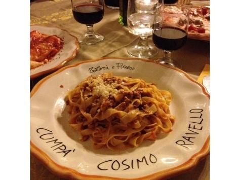 Traditional Beef Ragu in Cumpa Cosimo Ravello