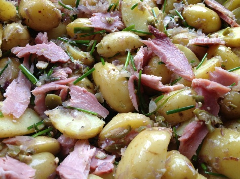 Add Ham and Herbs