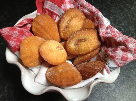 Apricot Madeleines