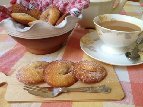 My Freshly Baked Apricot Madeleines