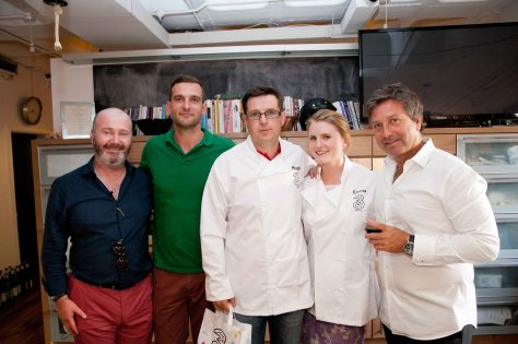 Ross Golden -Bannon, Andrew Rudd, Hugh Sweeney, Emma Kenneally and John Torode