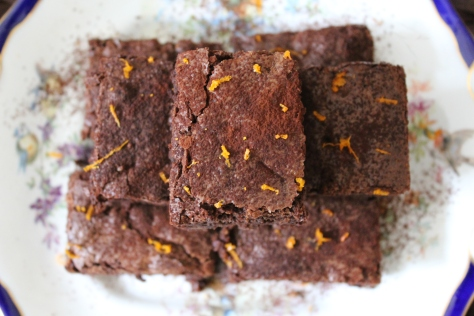 Chocolate Orange Nutty Brownies