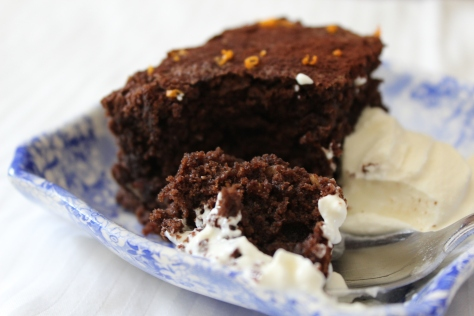 Rich Orange Chocolate Nutty Brownies