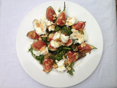 Fig, Mozzarella and Honey Salad