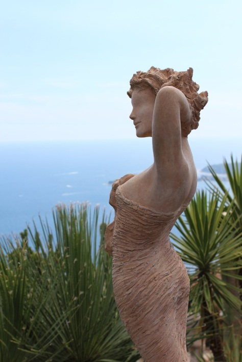 The Goddess Margot Looking Out Over the Cote d'Azur