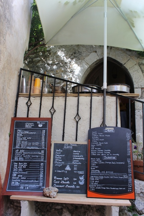 Tiny Little Crepe Stall in Eze, France