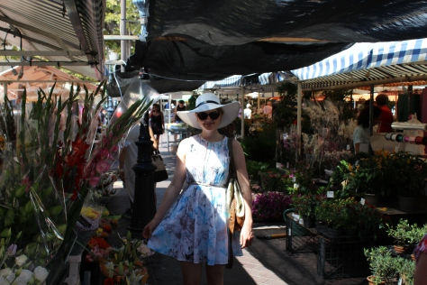 Browsing The Flower Stalls