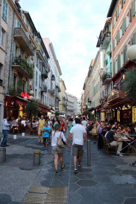 Explore The Bustling Streets of Restaurants in Nice in The Evening