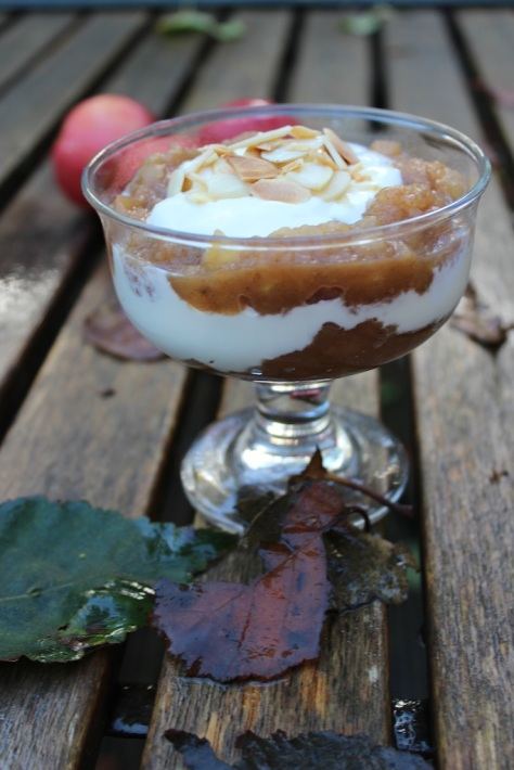 Simple Spiced Apple and Yoghurt Breakfast Pot