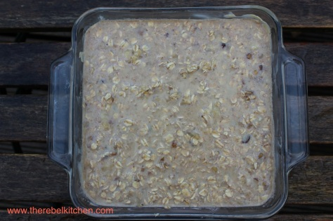 Baked Oatmeal Mix Ready For The Oven