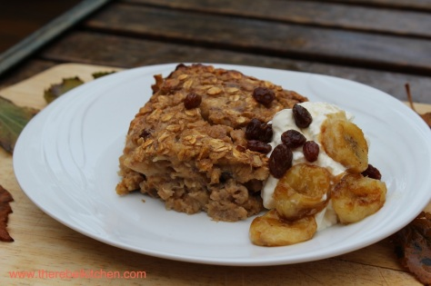 Breakfast Perfection - Banana Baked Oatmeal