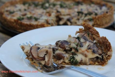Delicious Creamy Mushroom Tart