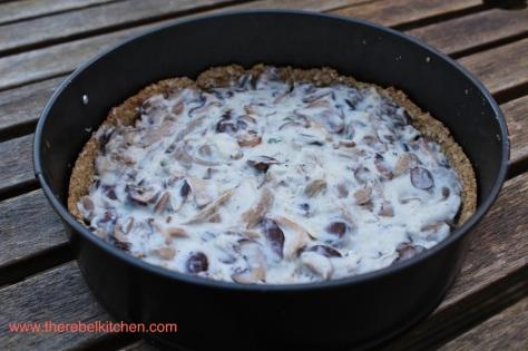 Fill Crust With Mushroom Mix