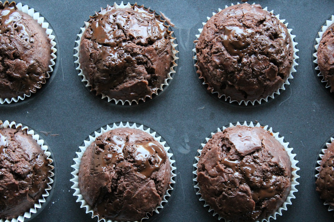 double chocolate chip muffins the rebel kitchen. Black Bedroom Furniture Sets. Home Design Ideas