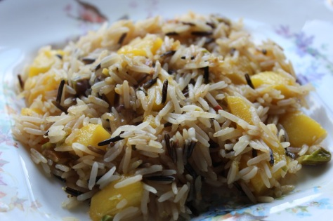Mango and Pistachio Fried Rice