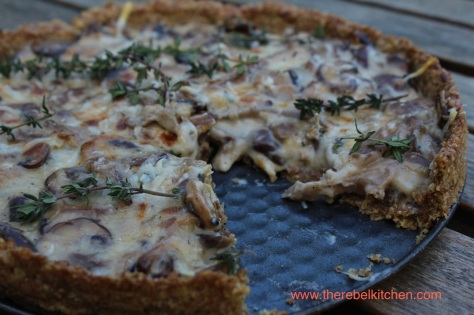 Mushroom Tart with Parmesan and Thyme