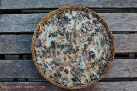 My Delicious Mushroom Tart with Wholemeal Crust