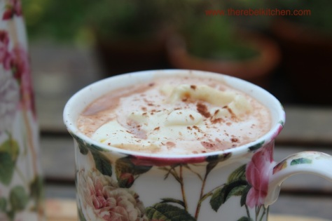 Beautiful Creamy Baileys Hot Chocolate