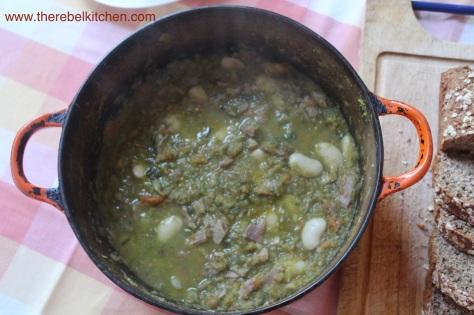 Pot Of Ham and Butter Bean Soup