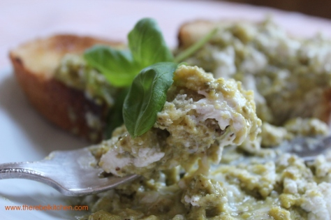 Goats Cheese and Pesto Scrambled Eggs