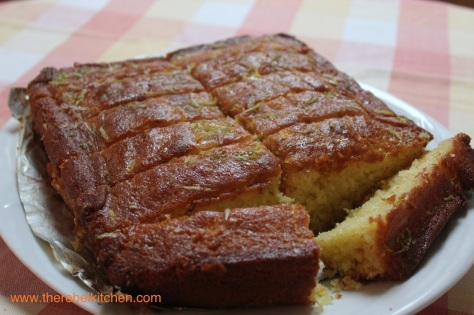 Slice Lemon Lime Drizzle Cake Into Fingers