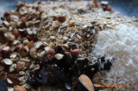 Beautiful Nutty and Chewy Ingredients