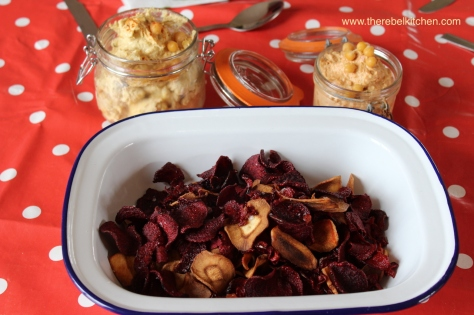 Beetroot and Parnsip Crisps - Perfect With Hummus